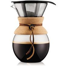 Bodum POUR OVER Kaffeebereiter mit permanentfilter, kurze Tülle, 1.0 l kork