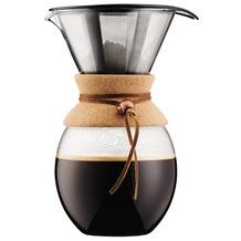 Bodum POUR OVER Kaffeebereiter mit permanentfilter, kurze Tülle, 1.5 l kork