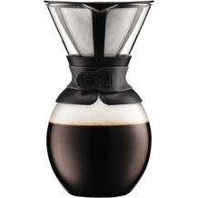 Bodum POUR OVER Kaffeebereiter mit permanentfilter, kurze Tülle, 1.5 l schwarz