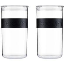 Bodum PRESSO 2er Set Vorratsgläser 2.0 l mit Silikonband schwarz