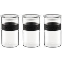 Bodum PRESSO SET Set 3 Vorratsgläser, 1.0 l schwarz