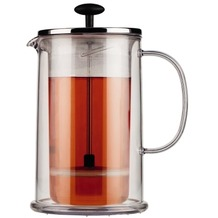 Bodum THERMIA Doppelwandiger Kaffee-/Teebereiter, 8 Tassen, 1.0 l, Kunststoff verchromt