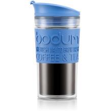 Bodum TRAVEL MUG Tasse, 0,35 Liter, blau/transparent
