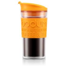 Bodum TRAVEL MUG Tasse, 0,35 Liter, gelborange/transparent