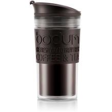 Bodum TRAVEL MUG Tasse, 0,35 Liter, schwarz/transparent