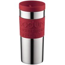 Bodum TRAVEL MUG Travel Mug, Doppelwandig, Edelstahl, 0.35 l rot