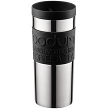 Bodum TRAVEL MUG Travel Mug, Doppelwandig, Edelstahl, 0.35 l schwarz