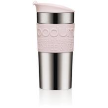Bodum TRAVEL MUG Travel Mug, Doppelwandig, Edelstahl, 0.35 l strawberry