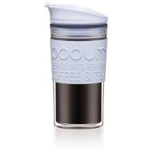 Bodum TRAVEL MUG Travel Mug, Doppelwandig, Kunststoff, 0.35 l blue moon