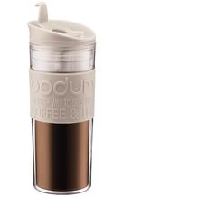 Bodum TRAVEL MUG Travel Mug, Doppelwandig, Kunststoff, 0.45 l cremefarben