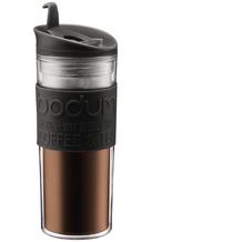 Bodum TRAVEL MUG Travel Mug, Doppelwandig, Kunststoff, 0.45 l schwarz