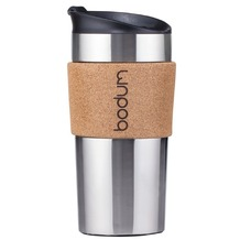 Bodum TRAVEL MUG Travel Mug, Edelstahl, doppelwandig, 0.35 l kork