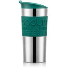 Bodum TRAVEL MUG Vakuum-Reisetasse, klein, 0,35 Liter, rostfreier Stahl, silber/grün