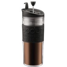 Bodum TRAVEL PRESS Kaffeebereiter, Doppelwandig, Kunststoff, 0.45 l schwarz