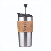 Bodum TRAVEL PRESS Kaffeebereiter, Edelstahl 0.35 l kork