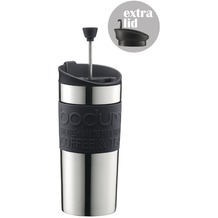 Bodum TRAVEL PRESS SET Kaffeebereiter mit extra Trinkaufsatz 0,35 l schwarz