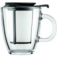 Bodum YO-YO SET Glastasse mit Kunststofffilter 0,35 l schwarz