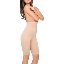 Body Wrap Miederhose Body Shaper Bauchweg Unterhose Bodyshaper nahtlose Figurformung Haut L (42)
