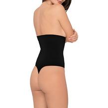 Body Wrap Miederstring Miederhose Body Shaper Bauchweg Unterhose nahtlose Figurformung Schwarz 1X (46)
