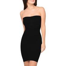Body Wrap Taillenformer Bauch weg Mieder Miederkleid Kleid Miederrock Rock Figurformer mit Bügel Schwarz 44 (XL)