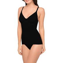 Body Wrap Unterhemd Bauchweg Hemd Body Shaper Shaping Unterwäsche Top nahtlose Figurformung Schwarz L (42)