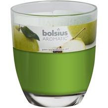 Bolsius Duftglas gefüllt 120/100mm grüner Apfel