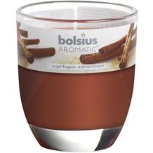 Bolsius Duftglas gefüllt 80 x 70 mm Zimt & Zucker-nur saisonal