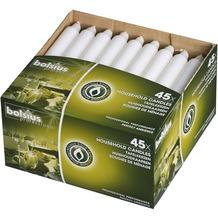 Bolsius Haushaltskerzen 180/21,3mm 45er Box weiß