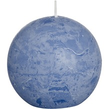 Bolsius Rustik Kugelkerzen ø 80 mm jeans-blau