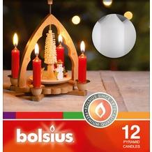 Bolsius Pyramidenkerzen 100/17 mm bx12, weiß