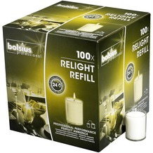 Bolsius ReLight Nachfüller 100er Box transparent