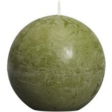 Bolsius Rustik Kugelkerzen ø 80 mm oliv