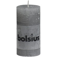 Bolsius Rustik Stumpenkerze 100 x 50 mm hellgrau