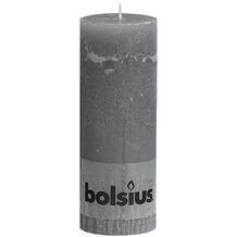Bolsius Rustik Stumpenkerze 190 x 68 mm hellgrau