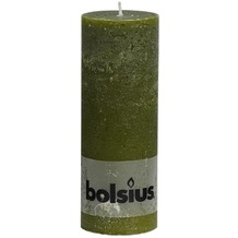 Bolsius Rustik Stumpenkerze 190 x 68 mm oliv