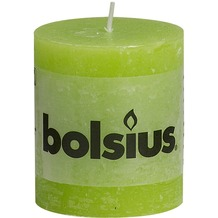 Bolsius Rustik Stumpenkerze 80 x 68 mm lemon