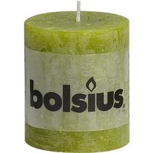 Bolsius Rustik Stumpenkerze 80 x 68 mm schilf grün