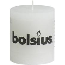 Bolsius Rustik Stumpenkerze 80 x 68 mm weiß