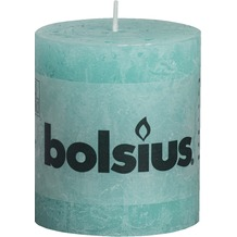 Bolsius Rustik Stumpenkerze 80 x 68 mm süßes türkis