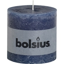 Bolsius Rustik Stumpenkerze 100 x 100 mm dunkelblau