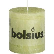 Bolsius Rustik Stumpenkerze 80 x 68 mm pastell grün