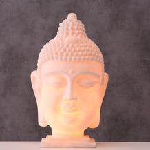 Boltze Lampe Buddha H48cm weiss