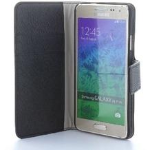 BookStyle Tasche Vertikal mit Halterung für Samsung Galaxy A7 (2016) - schwarz