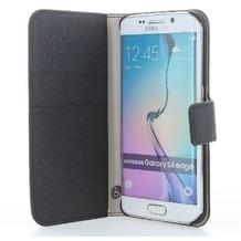 BookStyle Tasche Vertikal mit Halterung für Samsung Galaxy S7 Edge - schwarz
