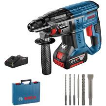 Bosch Professional Akku-Bohrhammer GBH 18V-20 (inkl. 1x4,0 Ah Akku + Ladegerät, 6tlg. Bohr-Meißel-Set)
