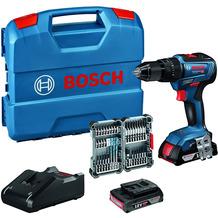 Bosch Professional Akku Schlagbohrschrauber GSB 18V-55 (inkl. 2x2,0 Ah Akku + Ladegerät, 35tlg. Impact Zubehör Set, in L-Case)