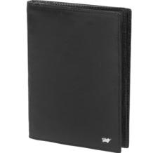 Braun Büffel Basic Brieftasche I Leder 12 cm schwarz