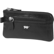 Braun Büffel Basic Schlüsseletui Leder 12 cm nachtschwarz