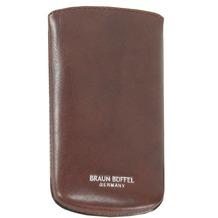 Braun Büffel Basic Schlüsseletui Leder 7 cm cognac