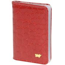 Braun Büffel Glanzkroko Kreditkartenetui Leder 6,5 cm rot